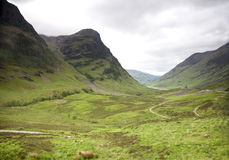 Glencoe in scotland Royalty Free Stock Photo