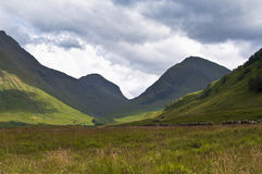 Glencoe in scotland Royalty Free Stock Photos