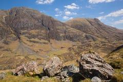 Glencoe Scotland UK stunning beautiful Scottish glen and mountains in Lochaber famous tourist destination Royalty Free Stock Photography