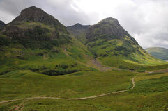 Glencoe in Scottish Highlands Stock Photo