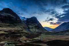 Glencoe sunset Stock Photography