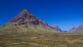 Glencoe valley on a bright sunny day Royalty Free Stock Photography