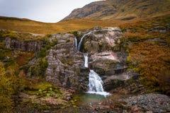 Glencoe vattenfall royaltyfri fotografi