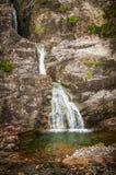 Glencoe vattenfall på Lochaber - Argyll i Skottland Royaltyfria Foton
