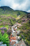 Glencoe Waterfall. A waterfall cascading in to the river Coe at Glencoe in the Scottish higlhands Stock Image
