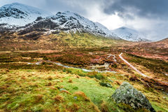 Glencoe in Winter, Highland Scotland Stock Image