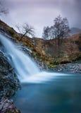 Glencoe winter waterfall. A waterfall in glencoe during winter in scotland Royalty Free Stock Photography
