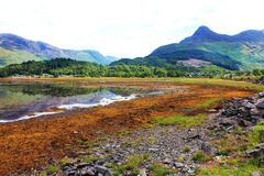 Glencoe wioski krajobraz Zdjęcia Royalty Free