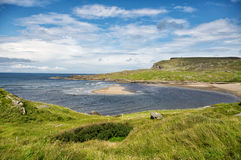 Glencolumbkille Bay. Cloudy skies over the irish coast royalty free stock photos