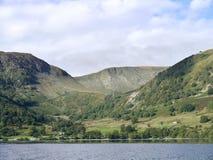Glencoynevallei van Ullswater wordt gezien die Royalty-vrije Stock Afbeeldingen