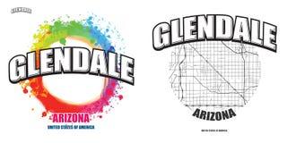 Glendale, Arizona, dwa logo grafiki Obraz Royalty Free