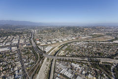 Glendale-Autobahn in dem Los Angeles-Fluss Stockfotos