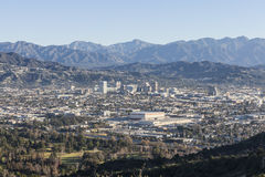 Glendale California Mountain View Stock Images