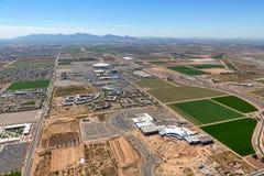 Glendale creciente, Arizona vio desde arriba fotos de archivo libres de regalías