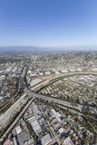 Glendale Freeway Crossing Los Angeles River royalty free stock photography