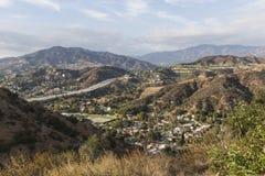 Glendale Hills near Los Angeles California Royalty Free Stock Image