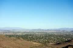 Glendale, Peoria and Phoenix, AZ. West side of Valley of the Sun looking at Glendale, Peoria and Phoenix from North Mountain Park, Arizona stock photography
