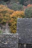 Glendalough屋顶在威克洛山国家公园 免版税库存照片
