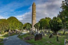 Glendalough村庄在威克洛,爱尔兰 免版税库存图片