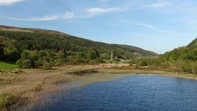 Glendalough的湖在爱尔兰 股票录像