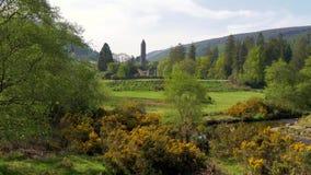 Glendalough美好的风景在爱尔兰的威克洛山脉 股票录像