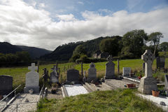Glendalough Cathedral and Round Tower, Ireland Royalty Free Stock Photography