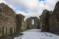 Glendalough Cathedral. These are the ruins of the cathedral in Glendalough, Ireland Royalty Free Stock Images