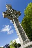 Glendalough cross, Ireland. Old keltic stone cross in Glendalough, Ireland stock photography