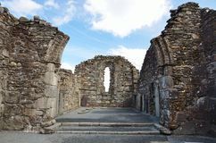 glendalough irland废墟 库存图片