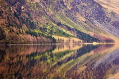 Glendalough lake county Wicklow Ireland. Beautiful Glendalough lake in winter county Wicklow Ireland stock photography