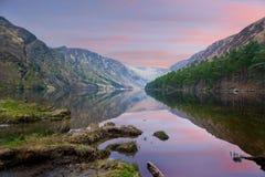 Glendalough Lake County wicklow Irland Arkivbild
