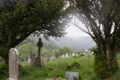 Glendalough am regnerischen Tag Stockbild