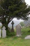 Glendalough am regnerischen Tag Lizenzfreies Stockbild