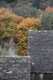 Glendalough roofs in the Wicklow Mountains National Park Royalty Free Stock Photo
