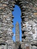 Glendalough round tower stock photos