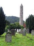 Glendalough runder Kontrollturm stockbild
