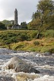 Glendalough Tower Royalty Free Stock Photography
