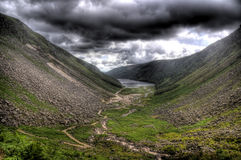 Glendalough Under An Angry Sky Stock Photography