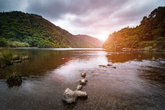 Glendalough upper lake park Royalty Free Stock Images