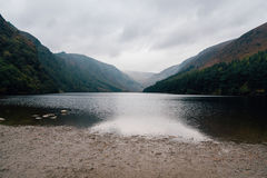 Glendalough Upper lake in Wicklow Mountains, Ireland Royalty Free Stock Images