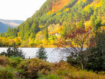 Glendalough Valley, Wicklow Mountains National Park, Ireland. Glendalough Lake at sunrise. Glendalough Valley, Wicklow Mountains National Park, Ireland Royalty Free Stock Photo