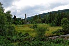 Glendalough, Wicklow-Berge, Irland lizenzfreie stockbilder