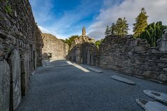 Glendaloughdorp in Wicklow, Ierland royalty-vrije stock foto's