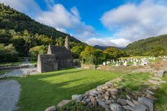 Glendaloughdorp in Wicklow, Ierland stock foto's