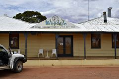 Australia, South Australia, roadhouse. Glendambo, SA, Australia - November 12, 2017: Outback roadhouse and restaurant on Stuart highway in South Australia royalty free stock images