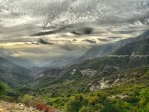 Glendora Ridge, supporto Baldy, California immagini stock libere da diritti