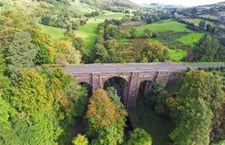 Glendun viaduktbro Glenariff Glenariffe Waterfoot Co Antrim nordliga Irelan Arkivbild