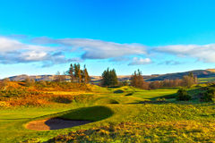 Gleneagles-Golfplatz Lizenzfreies Stockbild