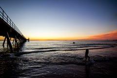 Glenelg beach Royalty Free Stock Photos
