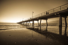 Glenelg beach Stock Photography